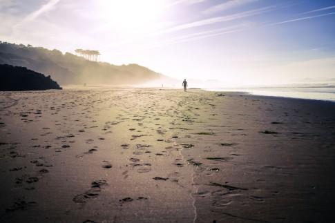 magic atmosphere at playa do somo, santanderr